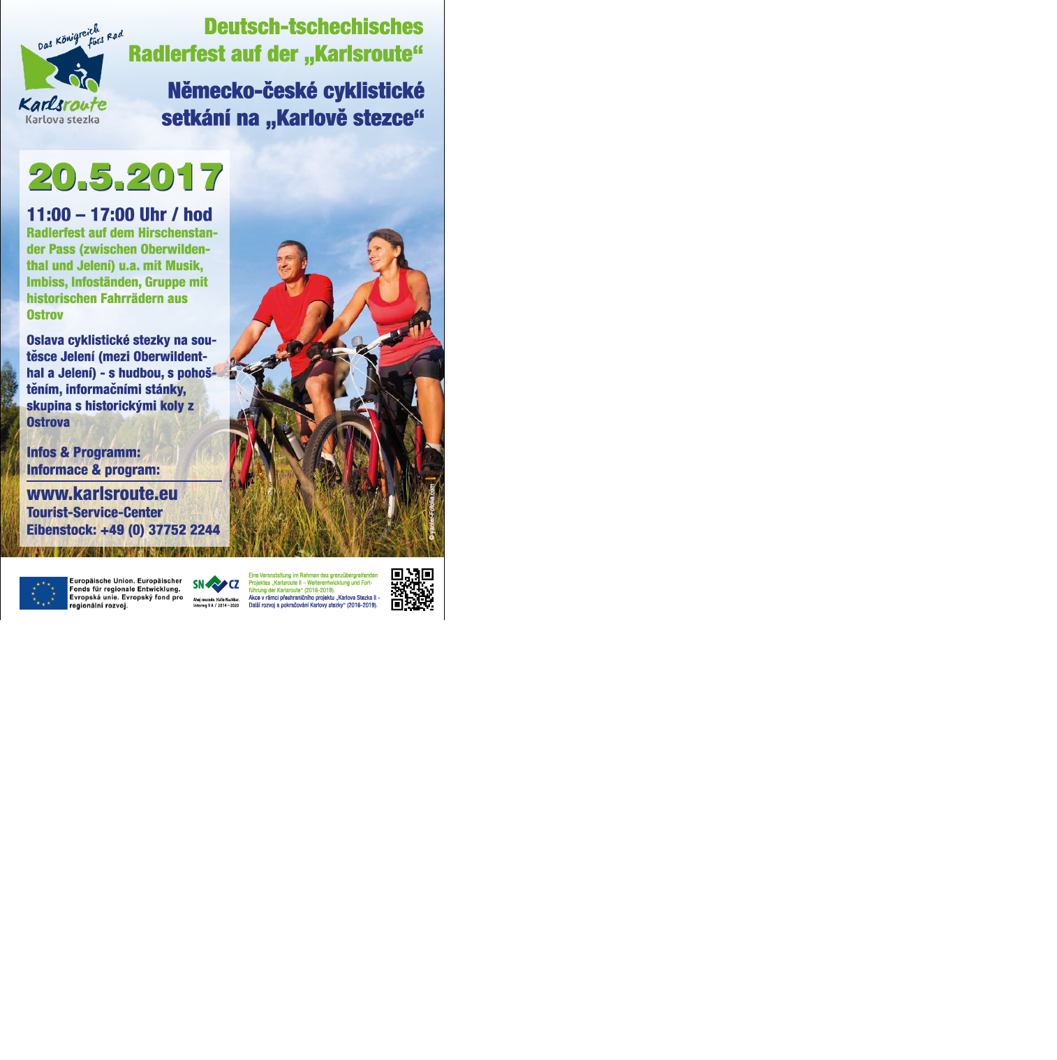 """Německo-české cyklistické setkání na """"Karlově stezce"""""""