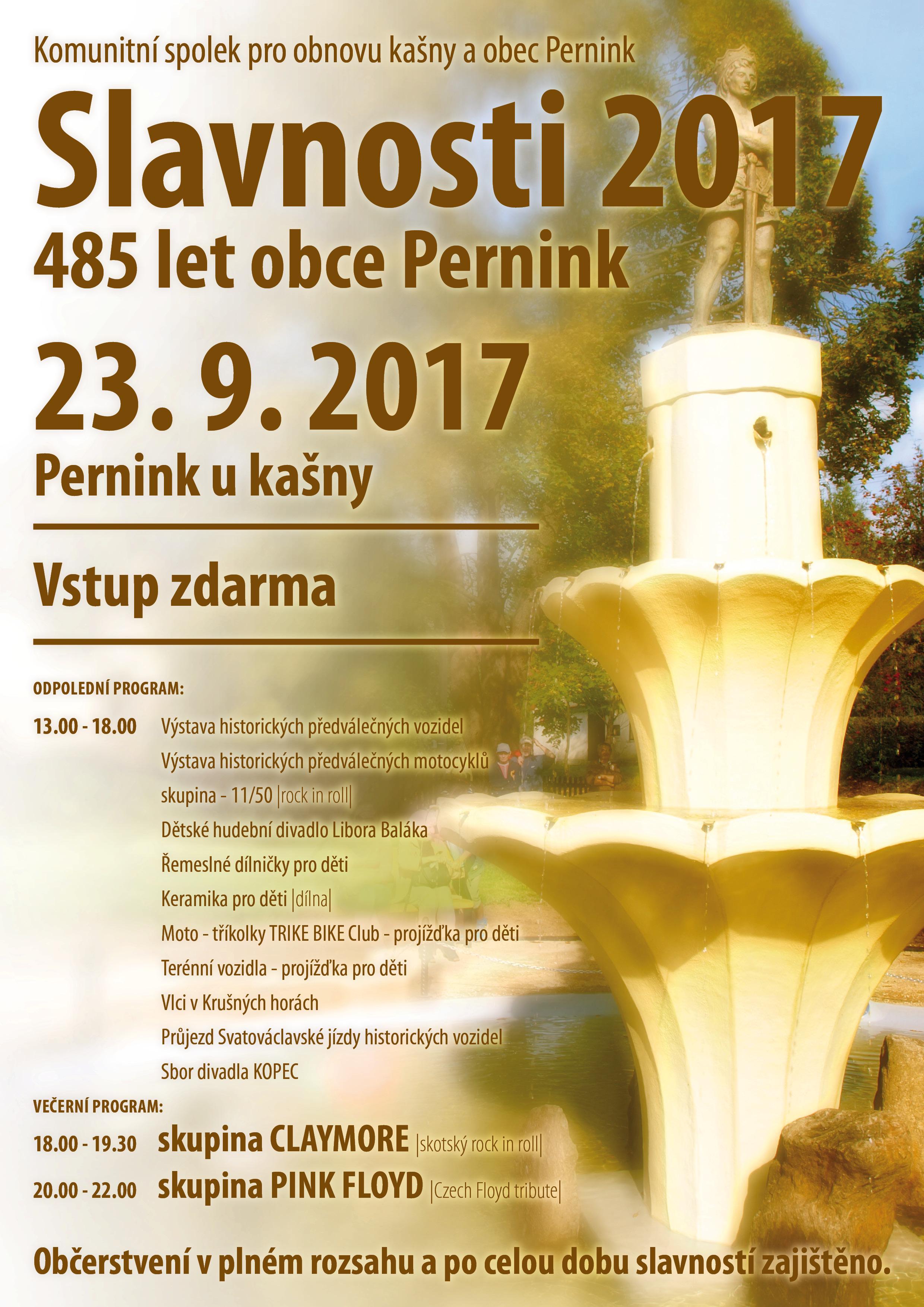 Slavnosti 2017 485 let obce Pernink