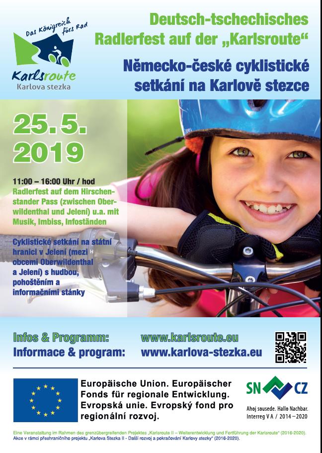 Německo-české cyklistické setkání na Karlově stezce