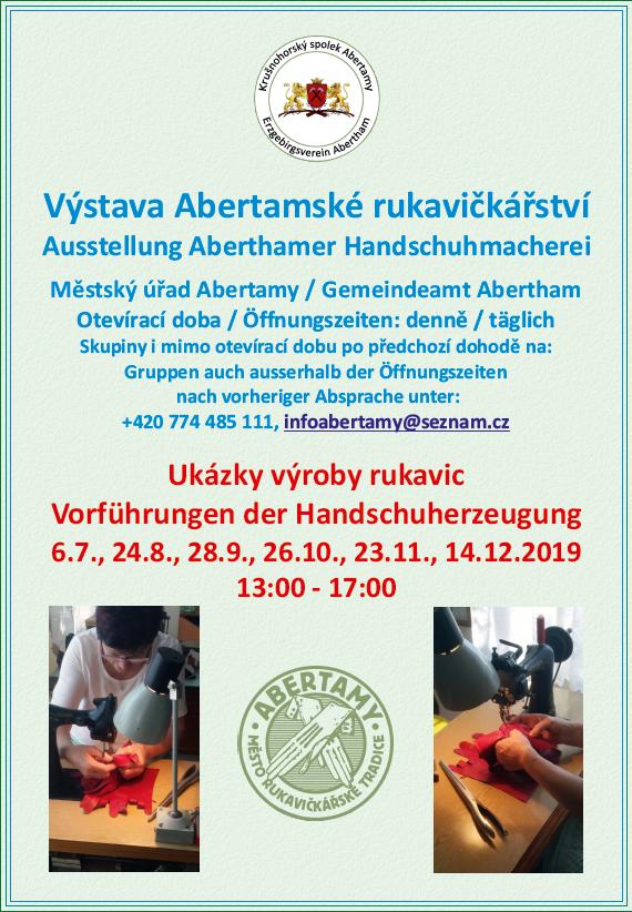 Výstava Abertamské rukavičkářství